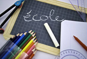 photo illustration ardoise d'école